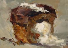 VALENTINE GIFT, NO-CALORIE CHOCOLATE CUPCAKE by TOM BROWN, painting by artist Tom Brown