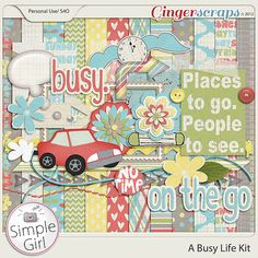 A Busy Life Digital Scrapbooking Kit by Simple Girl Scraps: a perfect kit for busy moms!