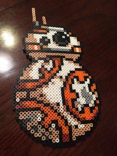 BB-8 Star Wars VII perler beads by NateScreenPrints