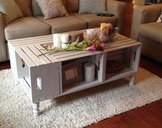 wood crate coffee table diy milk crate table new wine coffee stuff with regard to end prepare diy wooden crate coffee table instructions Crate Furniture, Reclaimed Wood Furniture, Wood Crates, Shabby Chic Furniture, Rustic Furniture, Crate Nightstand, Furniture Price, Milk Crates, Furniture Cleaning