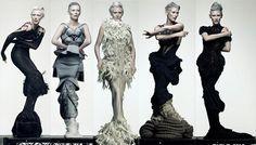Sandra Backlund Fashion Models, Fashion Show, Fashion Design, Sandra Backlund, Short Grey Hair, Tilda Swinton, Sculptural Fashion, Crochet Fashion, Modern Fashion