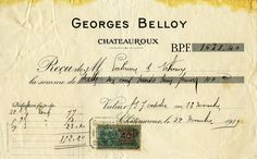 Here are three vintage French receipts. Click on images to enlarge.
