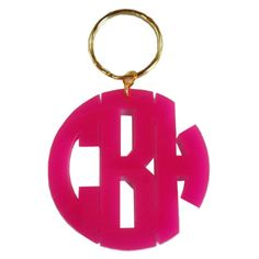 Monogram Block Keychain in black!