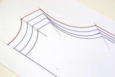 Cómo aumentar o disminuir tallas en los patrones. Clase costura 14 :D | | Oh, Mother Mine DIY!!