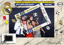 PHOTOCALL REAL MADRID, marco de photocall Real Madrid, marco de selfie Real Madrid, photocall cumpleaños, photocall comunión, imprimible,jpg Costco, Real Madrid, Boy Birthday Parties, Custom Photo, Birthday Invitations, Photo Booth, My Design, Selfie, Etsy