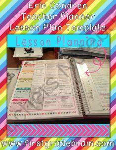 Erin Condren Teacher Planner Lesson Plan Template from FirstGradeBrain on TeachersNotebook.com (13 pages)  - Erin Condren Teacher Planner Lesson Plan Template