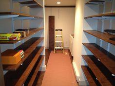 Custom pantry in Bedford, MA basement remodel