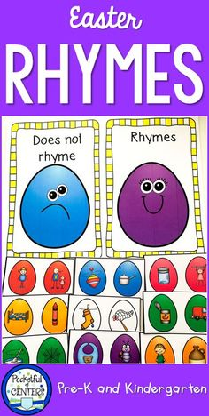 Easter Centers for kids in PreK-Kindergarten. Math and language games for classrooms plus a FREEBIE