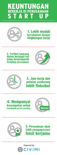 5 benefit work in start up company (Infographic)