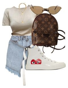 """""""Untitled #1776"""" by directioner91 ❤ liked on Polyvore featuring Palm Angels, Louis Vuitton, Rebecca Minkoff, Play Comme des Garçons and Cartier"""