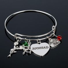 dongsheng Riverdale Bangle Betty Jughead Jones Wish Bracelet Southside Serpents Riverdale Vixens Jughead Jewelry for Women Girl Wish Bracelets, Bangle Bracelets, Bangles, Betty And Jughead, Pandora Bracelet Charms, Metal Jewelry, Jewelry Gifts, Women Jewelry, Customer Support