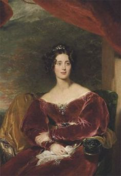 Lady Mary Margaret Stanley by Thomas Lawrence, born 1801, daughter of the actress Eliza Farren and Edward Smith-Stanley, 12th Earl of Derby. She married Thomas Grosvenor Egerton, 2nd Earl of Wilton of Wilton Castle