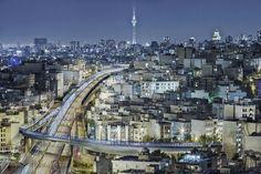 """Sadr"" elevated highway ""Gheytarieh"" Blvd crossing ""Milad"" tower  Tehran - Iran Rasoul Safizadeh - Apr 2014  #everydayMiddleEast #gheytarieh #milad_tower #photography #sadr #crossing #photo #everydayiran #photooftheday #picoftheday #bestoftheday #popularpage #popular #niayesh #iran #instagram #everydayTehran #tunnel #highway #light #night by rasoul_safizadeh"