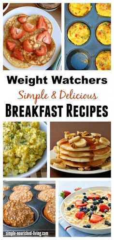 Weight Watchers Breakfast Recipes. Simple. Healthy. Delicious. All with Points Plus Values simple-nourished-...
