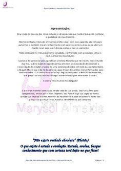 Apostila básica de extensão de cílios Marysol Almeida