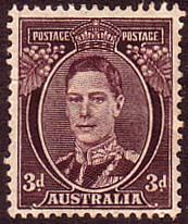 Australia 1938 SG 187 King George VI Fine Mint Scott 183A Other Australian Stamps HERE