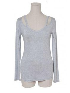 Comfy Grey Polyester Long Sleeve Round Neck Tees Comfy, Grey, Long Sleeve, Sweaters, Mens Tops, Fashion, Gray, Moda, Full Sleeves