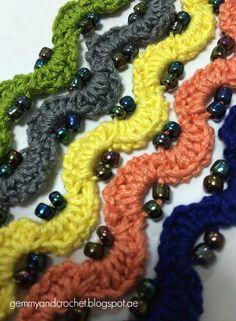 Free Pattern: Beaded Crochet Chain Bracelet