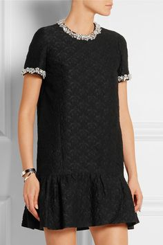 Miu Miu | Embellished cotton-blend jacquard mini dress | NET-A-PORTER.COM