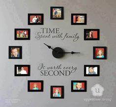 I love this idea!!! #Photocollage #clockoffamilyportraits