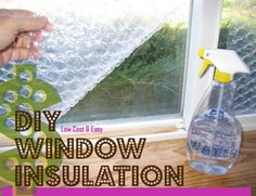 Save LOTS on heating this winter! Here's an easy DIY Window Insulation tip that will help you. Perfect for basement, spare room, guest room, garage and attic windows. Lets lots of light come true, but keeps that freezing draft out... What a solution!
