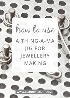 A Thing-A-Ma Jig is a wire jig by Beadsmith, a brilliant tool that enables you to create your own loops and designs using metal wire. Watch our video tutorial to find out how to use it to create handmade jewellery. Wire Tutorials, Diy Jewelry Tutorials, Wire Jewelry Designs, Handmade Wire Jewelry, Wire Jewelry Making, Wire Wrapped Jewelry, Jewellery Making, Jewellery Project, Pandora Charms
