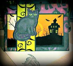 "Handmade Halloween ""Peek-A-Boo"" Black Cat Card by AmrcnWldFlwrDesigns on Etsy, $4.50"