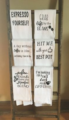 Dish Towels, Hand Towels, Tea Towels, Coffee Theme Kitchen, Cafe Themed Kitchen, Towel Crafts, Great Mothers Day Gifts, Kitchen Themes, Kitchen Ideas