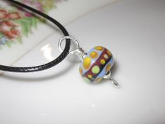 Handcrafted Lampwork Glass Bead Sterling by BlueberryBayBeads, $24.00