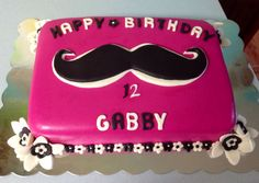 Mustache Cake 10th Birthday Cakes For Girls, 10 Birthday Cake, Baby 1st Birthday, 11th Birthday, Birthday Parties, Birthday Ideas, Mustache Cake, Mustache Birthday, Mustache Party
