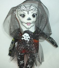 Day Of The Dead Doll by FromGramsHouse on Etsy, $12.00