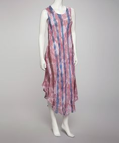 Take a look at this Purple Tie Dye Dress by Karma Circle on #zulily today!