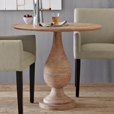 """TURNED PEDESTAL BISTRO TABLE  $399.00 - I think I've found a small """"dining"""" table for my apartment. Now for chairs..."""