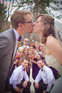 Fun Wedding Party Pose **Kandid Kate Photography ** Colorado Springs / Denver Photographer, Wedding, Engagement, Portrait.