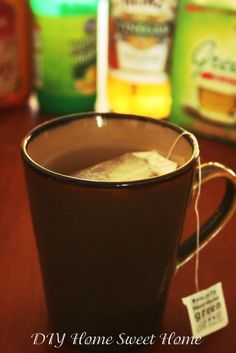 Soar throat remedy : Green Tea, Honey, Apple Cider Vinegar & Lemon Juice