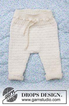 Winter Baby / DROPS Baby 33-12 - Gratis strikkeoppskrifter fra DROPS Design Baby Knitting Patterns, Baby Cardigan Knitting Pattern Free, Baby Hat Patterns, Free Knitting, Knit Baby Pants, Knit Baby Sweaters, Drops Design, Designer Baby, Baby Design