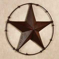 Texas Lone Star Wall Plaque Rustic Brown Large
