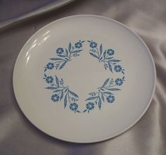 Corningware Collectibles   Corning Ware Centura Blue Cornflower Plate from colemanscollectibles ...