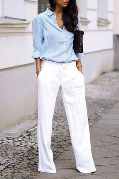 fcafd79e9b9c 6 Clothing Items Every Short Lady Should Own · Summer Business Casual  OutfitsWhite Summer OutfitsSummer Office ...