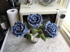 Chrochet, Crochet Flowers, Burlap Wreath, Doilies, Crochet Earrings, Decorative Boxes, Pink, Planter, Denmark