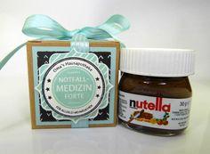 Schokolade & Süßigkeiten - Mini-Nutella Notfall Medizin - ein Designerstück von Stempelitis bei DaWanda
