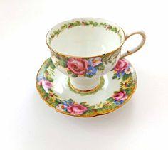 English Paragon China Tea Cup and Saucer Set