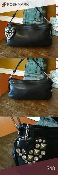 "Juicy Couture Mini Hobo All black soft supple leather mini hobo with zip top and gold hardware. Great condition. 5"" strap drop. 11x4x4 Juicy Couture Bags Hobos"
