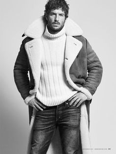 Justice Joslin Models Winter Fashion for Robb Report December 2016 Issue