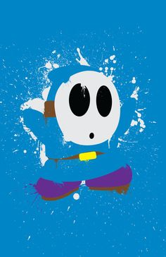 Shy Guy Paint Poster Choose Any Color por TheDailyRobot en Etsy
