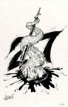 InkTober by Redisoj on Behance