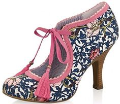 Online shopping for Court Shoes from a great selection at Shoes & Bags Store. Pretty Shoes, Beautiful Shoes, Cute Shoes, Me Too Shoes, Sock Shoes, Shoe Boots, Shoes Heels, Pumps, Floral High Heels