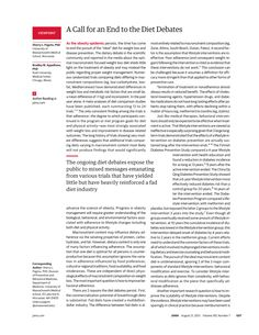 JAMA Network   JAMA   A Call for an End to the Diet Debates