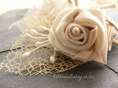 R170  Ivory Boutonniere or corsage  lapel by KathleenBarryJewelry #groom #corsagegroom #buttonhole #lapelpin Ivory wedding