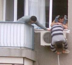air conditioner install - funny safety